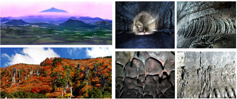 Natural Scenes of Jeju Island Geopark