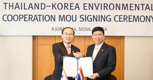 Minister Yoon Seongkyu singed and MOU on Korea-Thailand Environmental Cooperation
